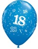 10 inch blue latex birthday balloon