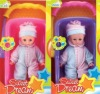 10 inch plastic baby doll with basket set toy