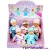 "10""plastic model toys in display box( 5 dolls)"