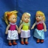 10cm plastic blond hair baby doll