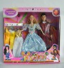 11 inch plastic baby dolls with husband & 3 set of dress
