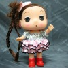 12 CM plastic cartoon figurine girl