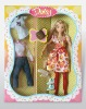 """12"""" lovely plastic doll set"""