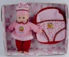 13 inch lively girl doll with bag