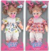 14 inch plastic cute lovely doll with sound
