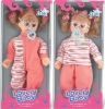 14 inch plastic lovely cute toy doll with wink, pretty glass toys