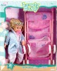 14 inch plastic real beauty doll with stroller