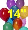 "14"" std latex balloons"