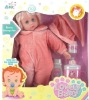 17 inch plastic beautifur girl toy doll with bathroom bottle toys (wink)