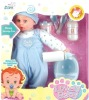 17 inch plastic cute baby boy doll with play sets