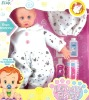 17 inch plastic cute lovely baby doll with bathroom toys
