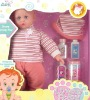17 inch plastic cute male nest toy doll with bottle toys
