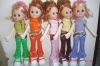 17 inch vinyl stuffed girl doll