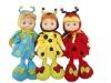 17inch fabric clothes/ vinyl head/ bee stuffed doll