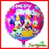 18 Inch Aluminium Foil Balloons With Happy Birthday With Cartoon Character