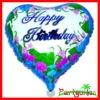 18 Inch Birthday Cake Metallic Balloons/ Mylar Balloons/ Round Helium Aluminium Foil Balloons
