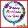 18 Inch Happy Birthday Helium Aluminium Foil Balloons/ Mylar Balloons/ Metallic Balloons
