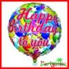 18 Inch Happy Birthday To You Metallic Foil Balloons