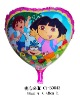 18 Inch Heart Shape Dora Inflatable Balloon
