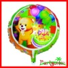 18 Inch Round Metallic Foil Balloons With Cartoon Character
