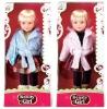 18 inch plastic baby lifelike girl doll with wink