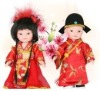 18CM couple of chinese traditional plastic doll
