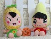 18cm new style lovely fruit plush doll,fruit plush toys