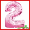"""""""2"""" Number Foil Balloon For Christmas"""