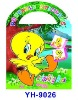 2011 new product children's portable colour painting and sticker album