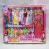 2012 Fashion beauty toy doll with many beautiful clothes,plastic baby doll