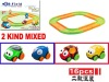 2012 New item 16pcs battery operated trains and railway toy