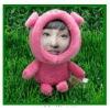 2012 beautiful new model 3d photo face dolls