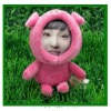 2012 new design 3d photo face dolls