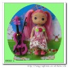 2012 plastic beautiful confused doll with guitar for girl