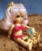 20cm plastic baby girl doll