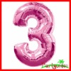 """3"" Number Foil Balloon For Christmas"