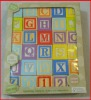 30 wood learning alphabet number blocks toy with export package