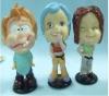 3d cartoon girl plastic figurine