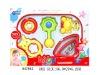 3pcs plastic baby rattles toy H47862