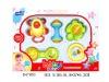 3pcs plastic baby rattles toy H47863