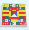 42 wooden construction number blocks toy