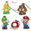 5 pieces kit mini cartoon super mario bros kart key chain characters