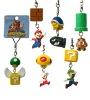 5 pieces kit mini cartoon super mario bros kart key ring characters