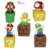 5 pieces kit super cartoon super mario bros kart characters