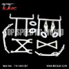 5T Nylon Body Mount Support Set For 1/5 HPI Baja 5T Parts(TS-H85137)