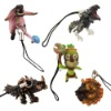 5x Monster Hunter Rathalos Akantor Figure Cell Phone Strap Set
