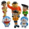 6x Doraemon Nobita Shizuka PVC Figure Set