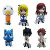 6x Fairy Tail Mini PVC Figure Set Brand New