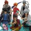 6x Gintama Sakata Gintoki Kagura PVC Figure Set