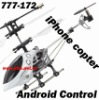 777-172 iPhone Control Model Airplane 3 Channel 13.5cm, remote control toy, iPad, iPod, iTouch RC Helicopter, Support Andriod